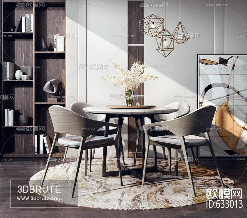 Dining Table Sets With Chairs 3dsmax Download 3d Models Free
