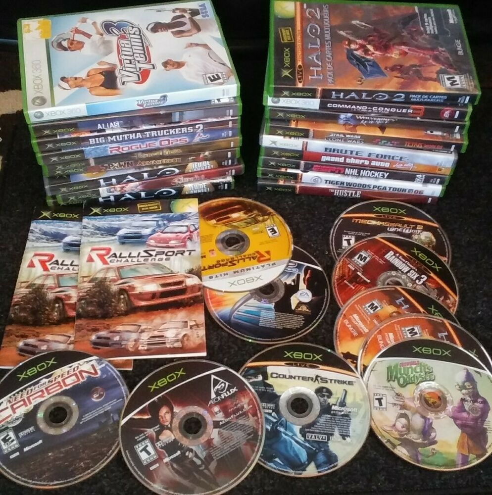 Lot of 28 Video Games Xbox Original & 360 Untested