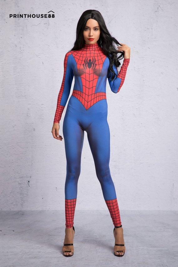 Spider Man Halloween Costume Adults.Spiderman Costume For Women Spiderman Cosplay Spiderman Suit