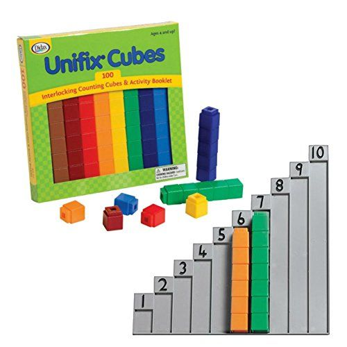 Didax Unifix Cubes 100 Count With Unifix 1 10 Stair For Cubes Construction Toys For Boys Building For Kids Construction Toys