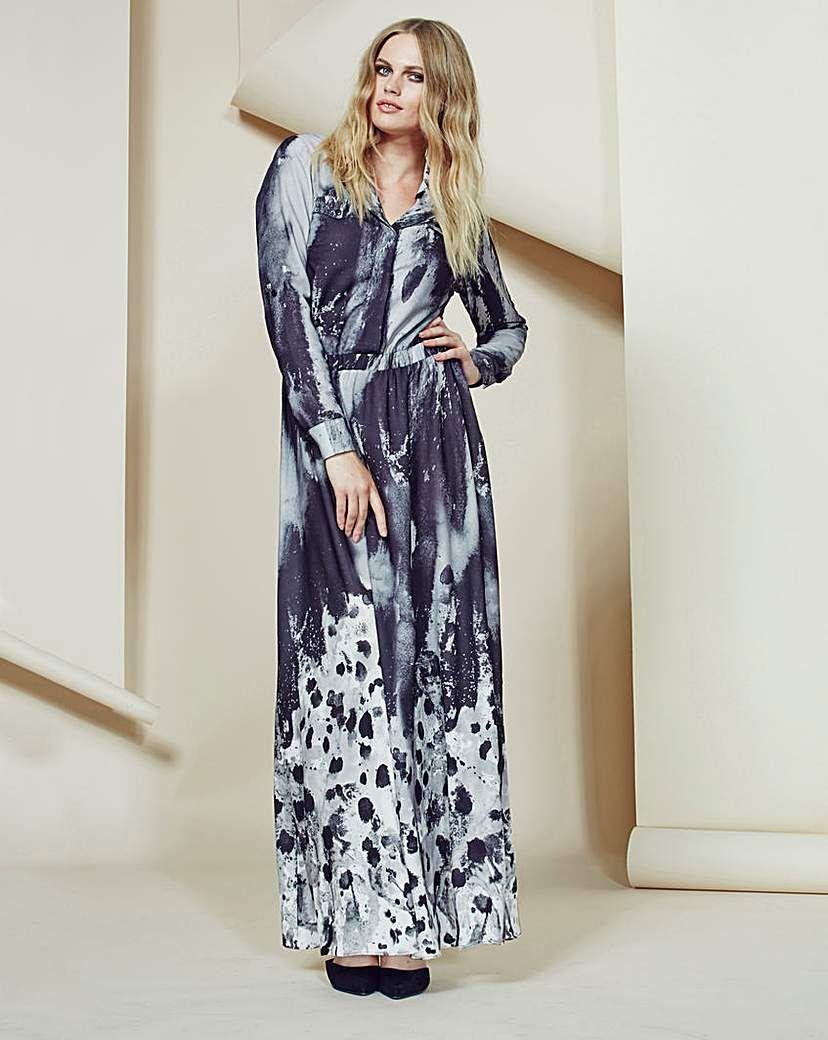 Look printed shirt style maxi dress we reckon this printed maxi