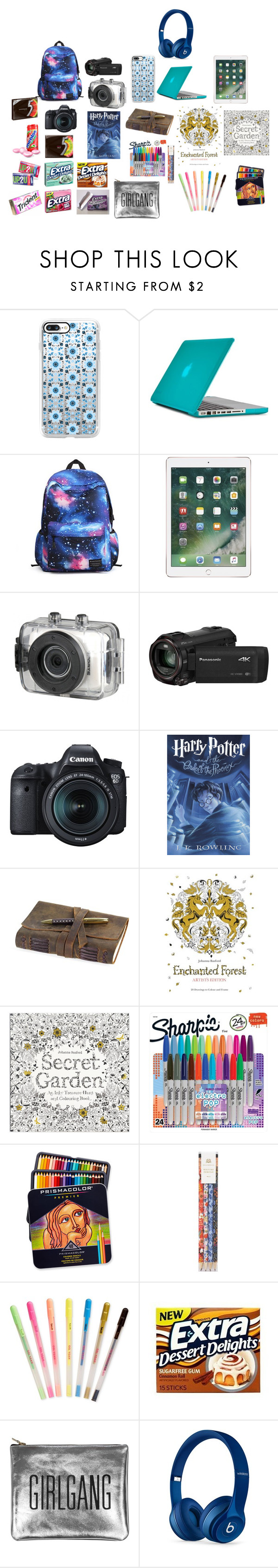 """""""Carry on bag"""" by jaynahickmon on Polyvore featuring Casetify, Speck, Vivitar, Panasonic, Eos, Chronicle Books, Sharpie, Rifle Paper Co, ban.do and CO"""