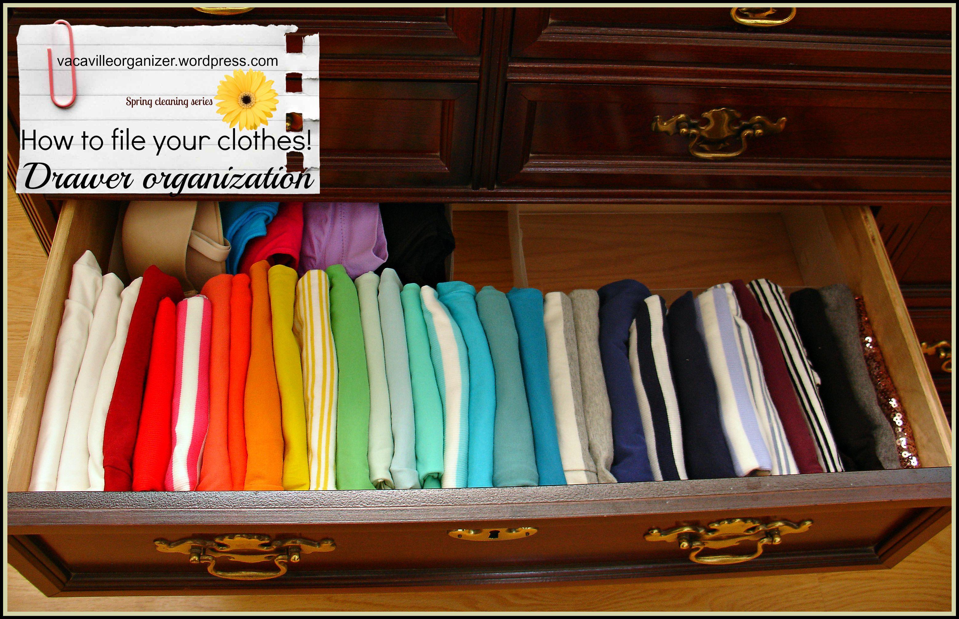 Drawer Organization Ideas Filing Clothes Organize Drawers Deep