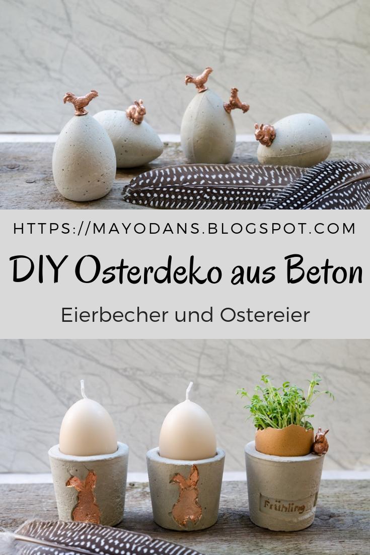 DIY Osterdekoration aus Beton