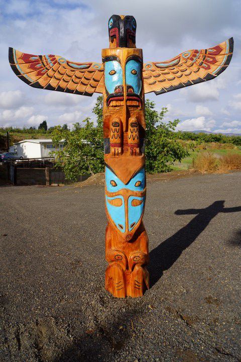Pacific Northwest Coast Native Style Totem Pole In 2019