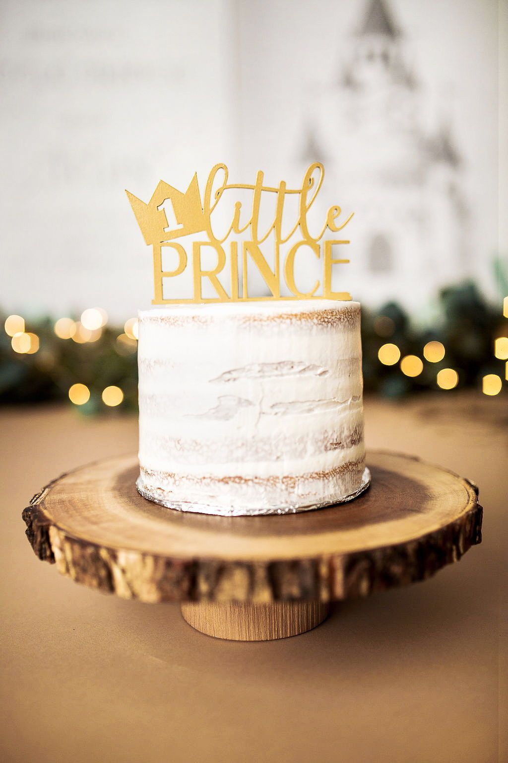 Little Prince Crown First Birthday Cake Topper Shop