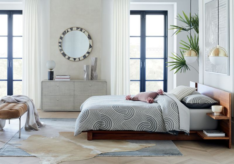 Cb2 February Catalog 2020 Andes Acacia Queen Bed In 2020 Low Dresser King Beds Full Bed