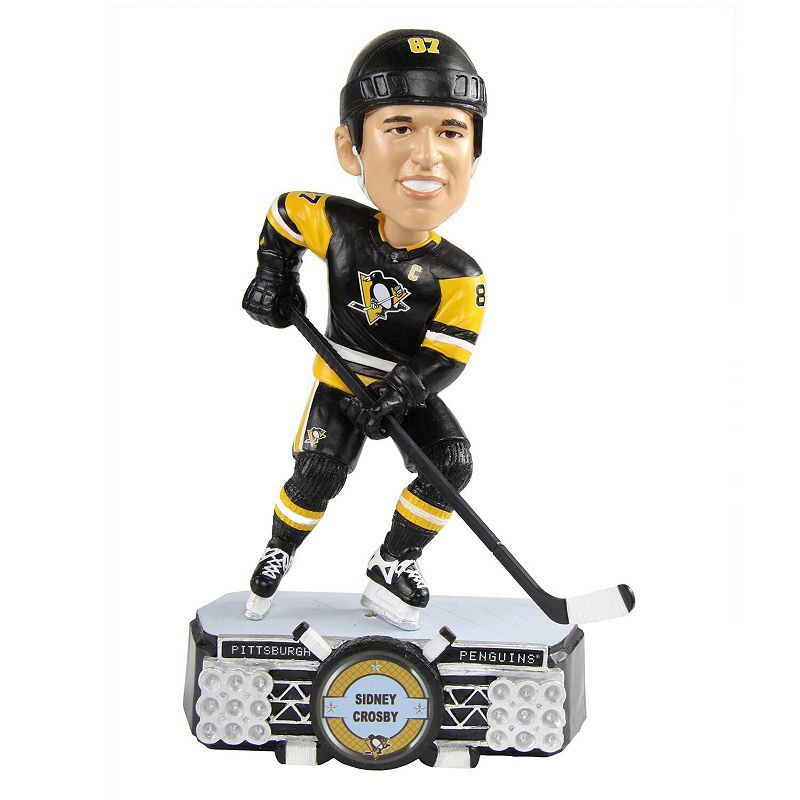 Let everyone know you're the ultimate Sidney Crosby fan by placing this Pittsburgh Penguins Stadium Lights bobblehead on your shelf at home or your desk at work!Let everyone know you're the ultimate Sidney Crosby fan by placing this Pittsburgh Penguins Stadium Lights bobblehead on your shelf at home or your desk at work!Material: 100% ResinMeasures approximate 7''Limited edition of 2018Painted with printed decalsSurface washableOfficially licensedImportedBrand: FOCO Size: One Size. Color: Multic