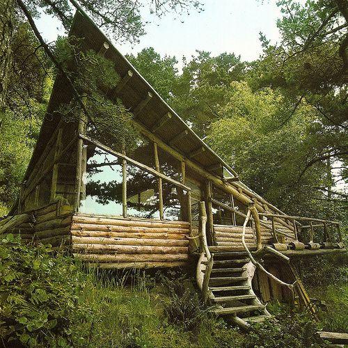 slanted cottage