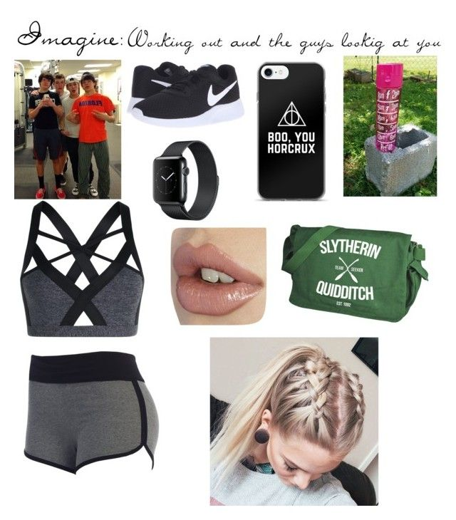 """Working out and having the guys look at you"" by shaylorxcash ❤ liked on Polyvore featuring NIKE and Lorna Jane"