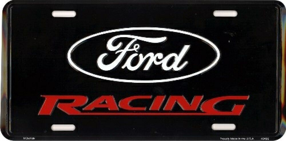 Ford Racing Novelty License Plate Car Truck Tag Sign Usa Made Tag