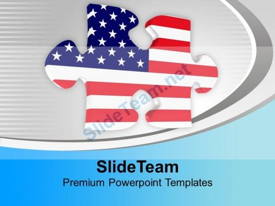 American Jigsaw Puzzle PowerPoint Templates PPT Themes And - puzzle powerpoint template