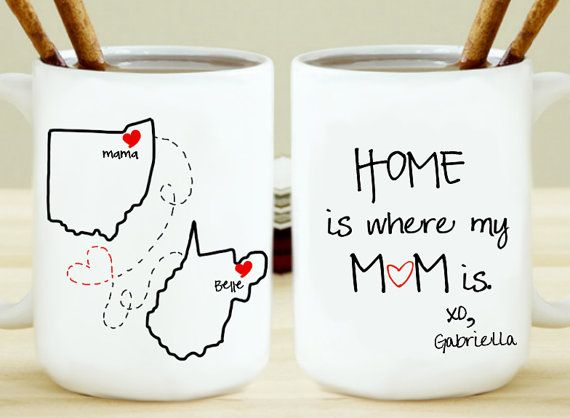Home Is Where My Mom Is Mug By Kitchenpaintedpretty On Etsy