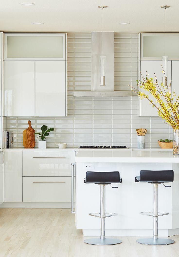 A Dramatic White and Gray Modern Kitchen Remodel • Interior Designer Des Moines Jillian Lare