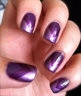 Handtastic Intentions: Quick blog post of my chevron purple nail art! #nailpolish #handtasticintentions