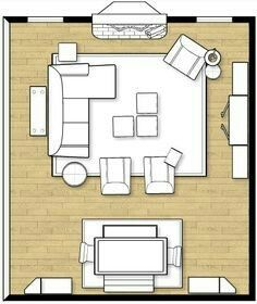Square Living And Dining Room Layout