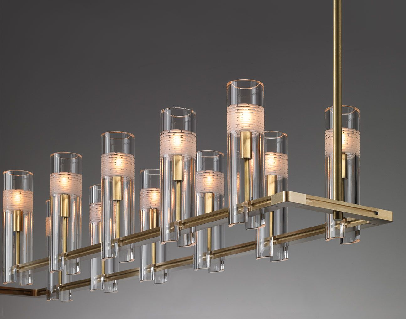 Jonathan Browning Studios Chamont Double Linear Chandelier