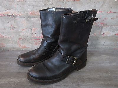 FRYE  Brown Leather Engineer Boots size 9.5 B https://t.co/47RCIYYehI https://t.co/eGF2CiP6TQ