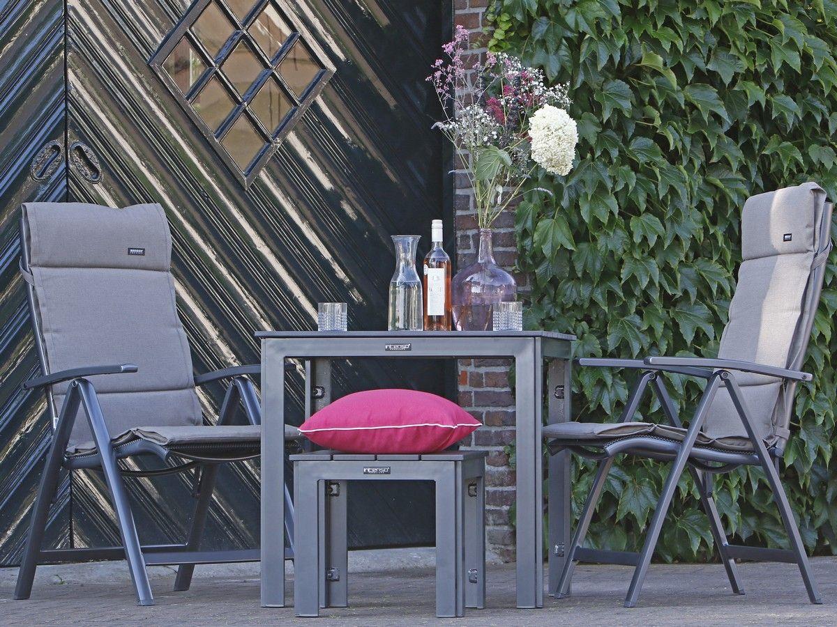 Balkon-Set mit verstellbaren Essstühlen aus den Materialien ...