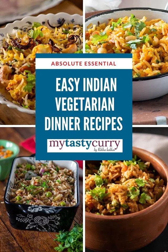 Lockdown Recipes One Pot Vegetarian Indian Dinner Recipes My Tasty Curry Indian Dinner Recipes Veg Dinner Recipes Vegetarian Recipes Dinner