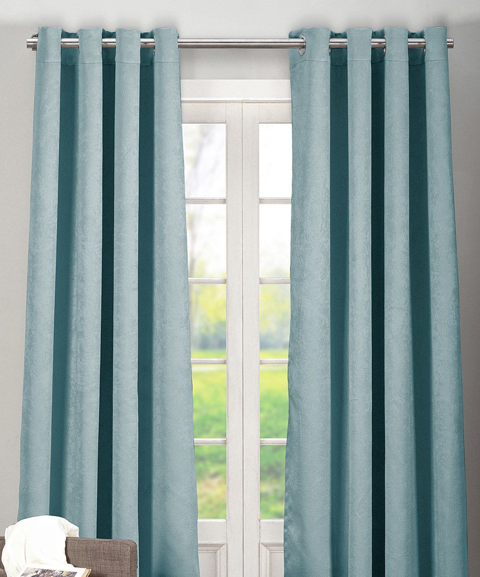 Love this slate blue quincy blackout curtain panel set of two by duck river textile on zulily zulilyfinds