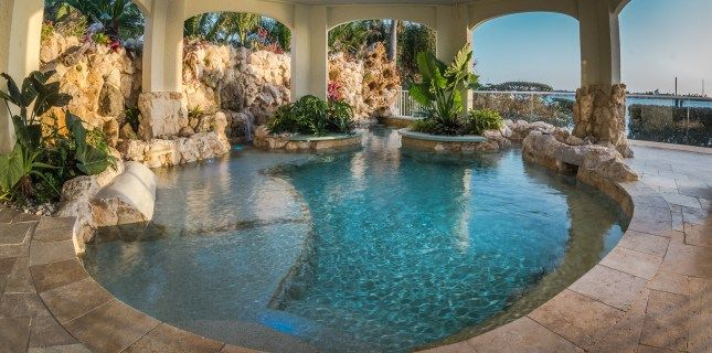 Lucas lagoons insane pools under the sea 8852 garden for Pool design tv show