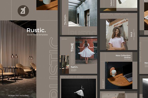 Photo of Rustic social media graphic by Chanut is industries on Creative Market