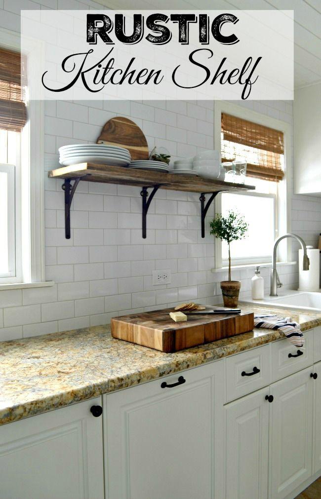 Rustic Kitchen Shelf Kitchen Shelves Rustic Kitchen Rustic