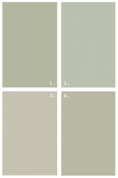 Grey Greens Benjamin Moore 1 Croquet 2 Aganthus Green 3