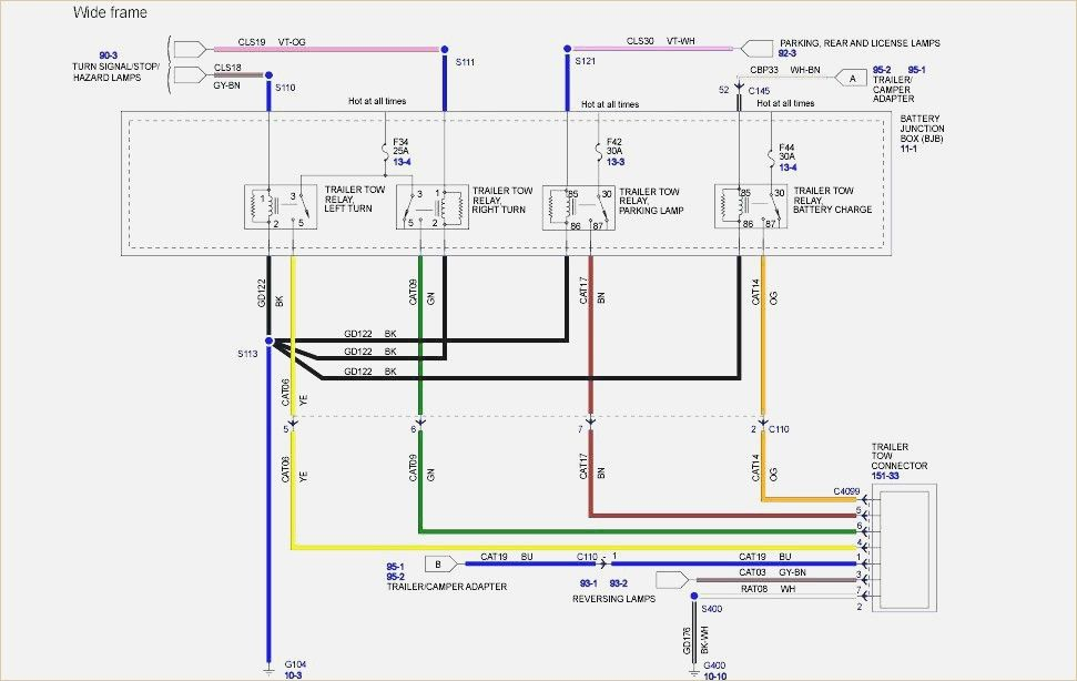 Ford F250 Trailer Wiring Diagram Plus E Trailer Wiring Harness  With Images