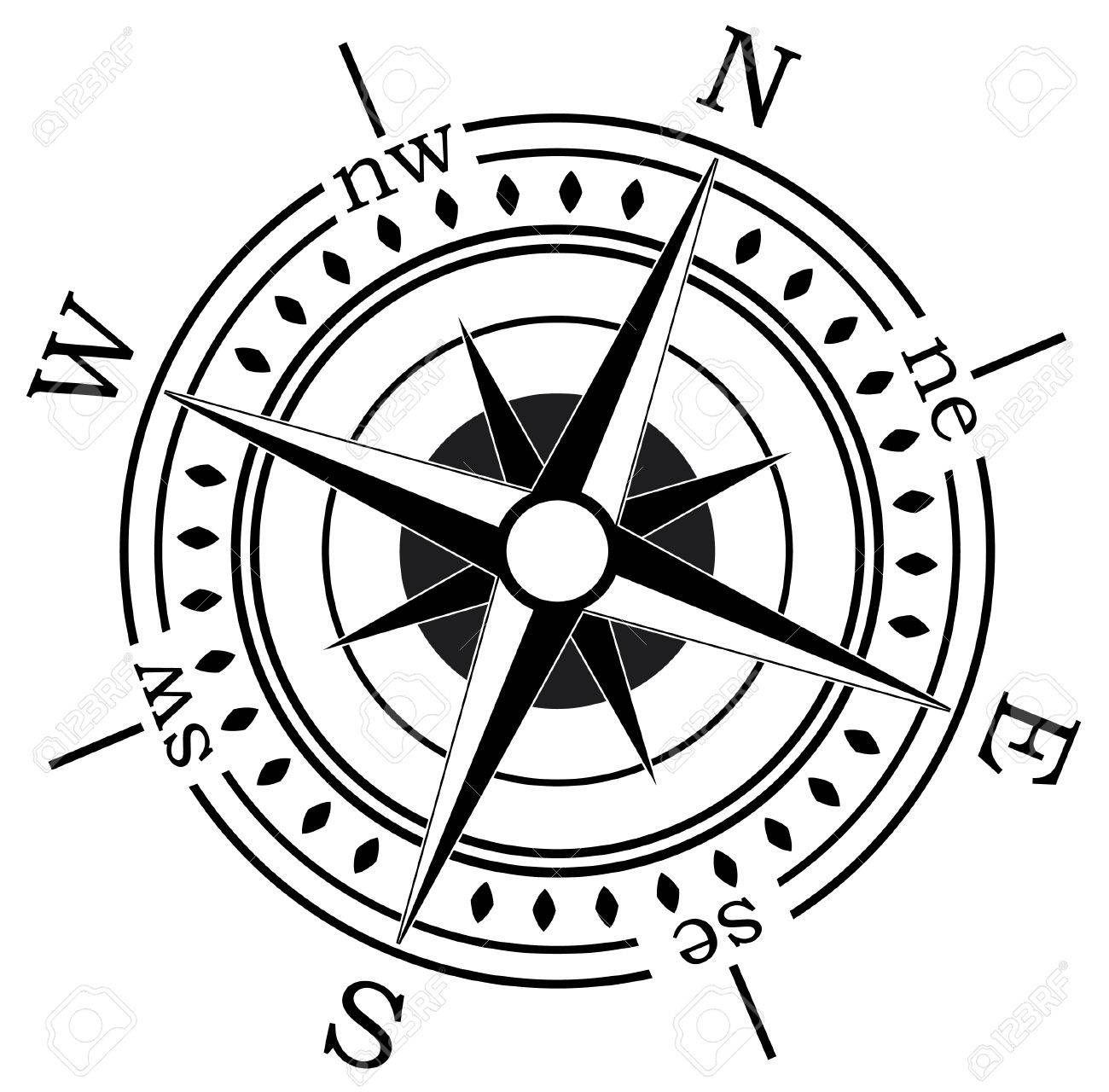 Stock Vector | Coastal Casual: Entry/hallways | Compass