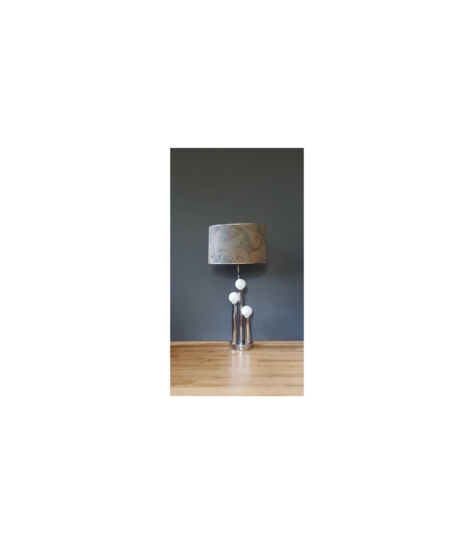 Mid century lamp chrome triple globe table lamp with agate geode mid century lamp chrome triple globe table lamp with agate geode style swirl lamp aloadofball Gallery
