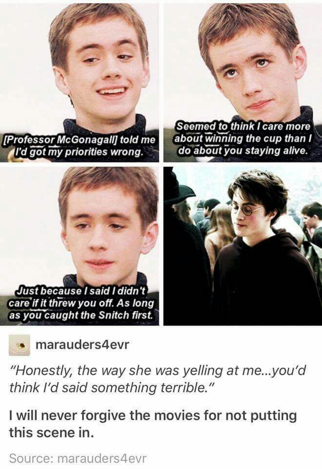 Oliver Wood Is So Passionate About Quidditch It S The Best Also Look At Harry S Face Like Harry Potter Funny Harry Potter Memes Hilarious Harry Potter Jokes