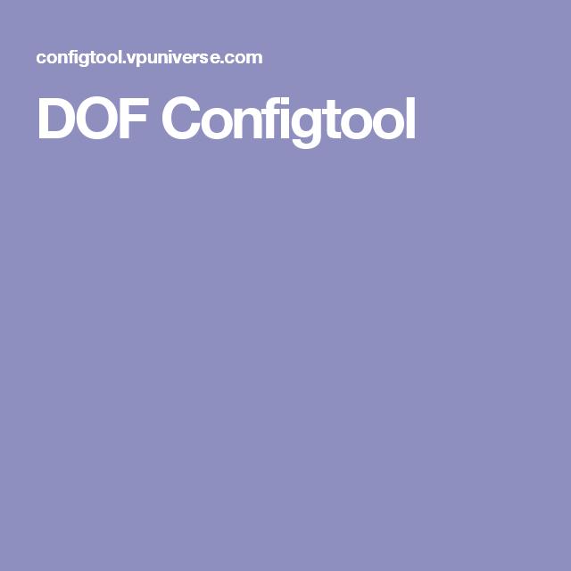 DOF Configtool