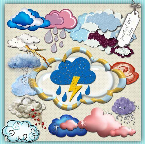 Погода (облака, радуга, дождь) - Природа (кроме цветов и ...