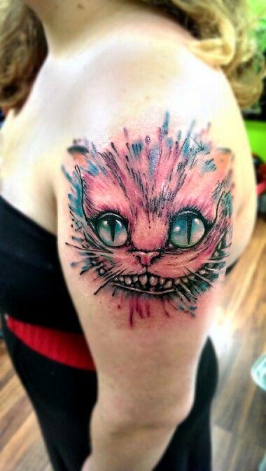 Cheshire cat watetcolor tattoo tattoos pinterest for Renaissance tattoo san clemente