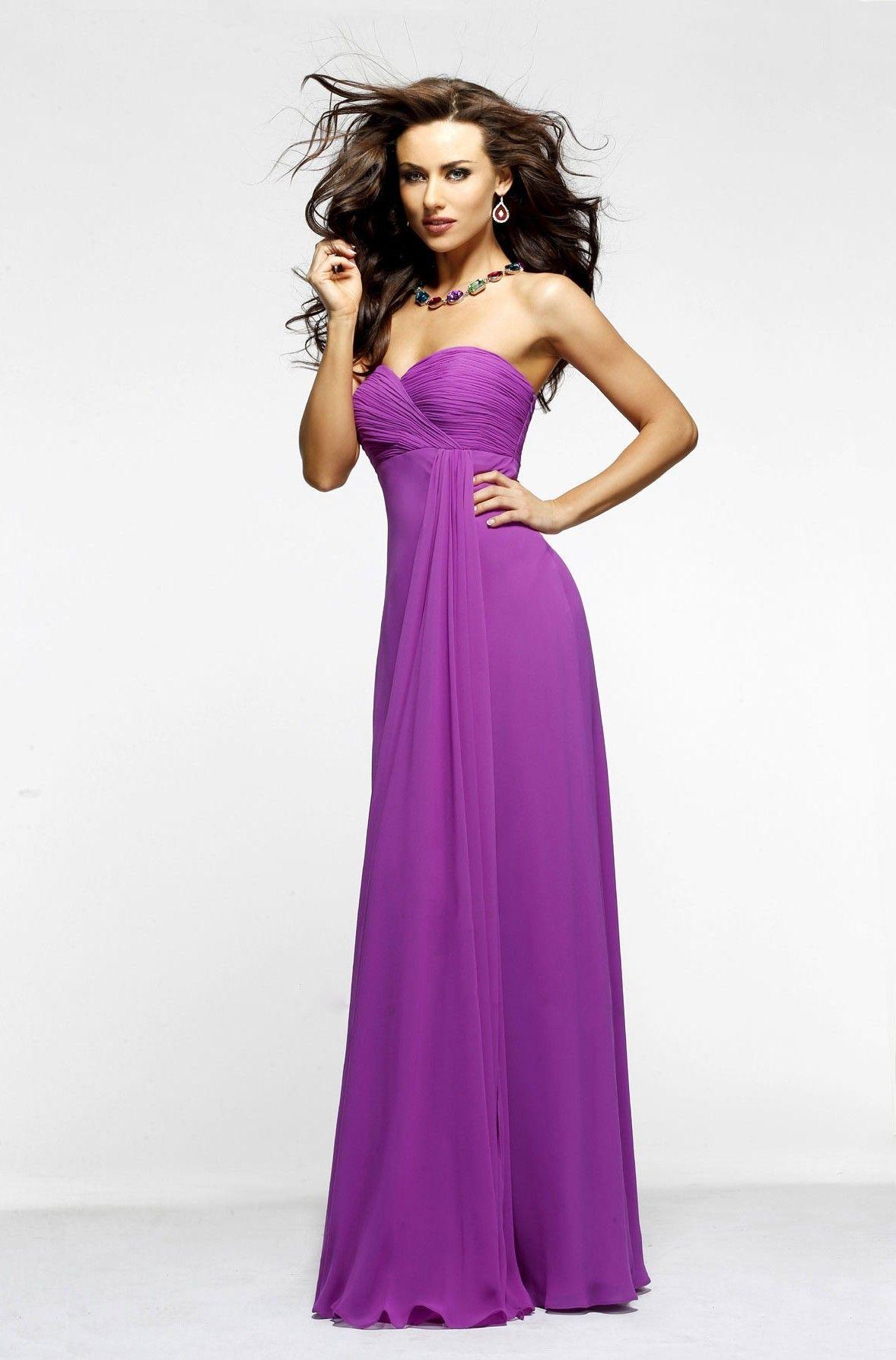 Simple A-line Sweetheart Ruching Floor-length Chiffon Wedding Guest Dresses $209.99 Wedding Guest Dresses