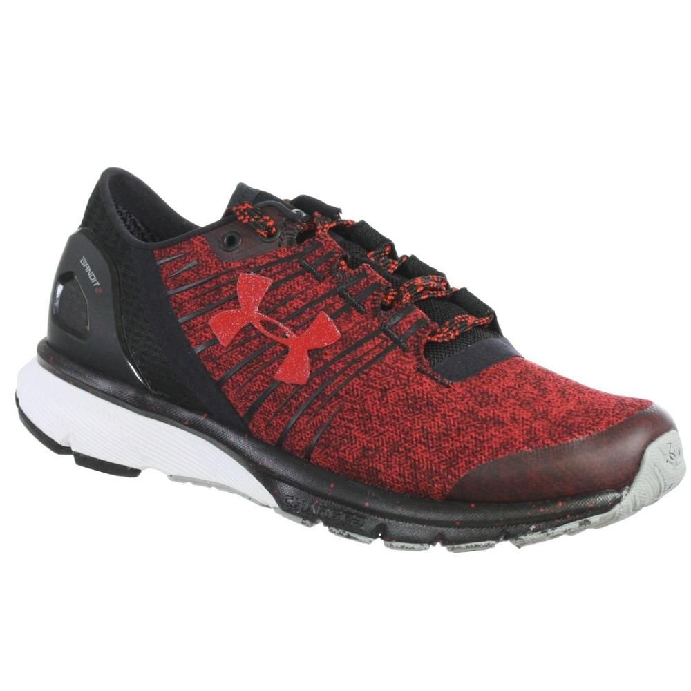 UNDER ARMOUR WOMEN'S ATHLETIC SHOES TEAM CHARGED BANDIT 2 RED BLACK WHITE  5.5 M | Clothing