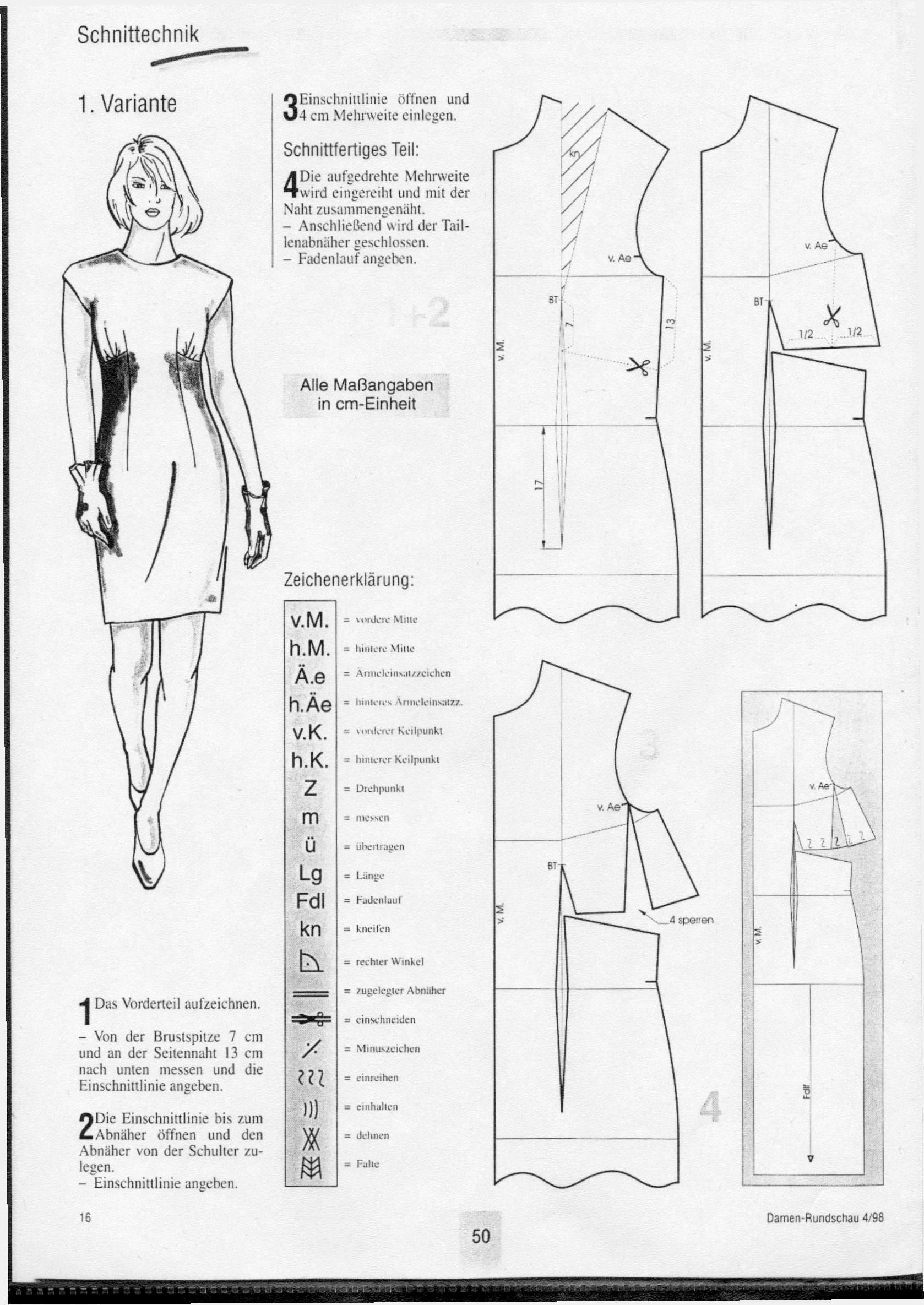 Dart y costura variación para los vestidos - Cortador de la Mujer y ...