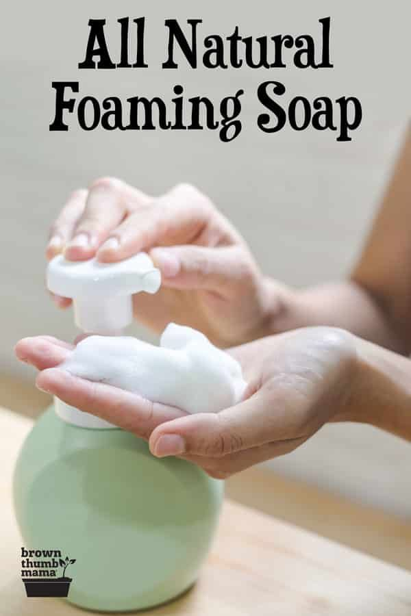 Ditch the chemicals and make your own natural foaming hand soap. It's gentle, moisturizing, and cleans thoroughly without artificial ingredients. Add any scent you like with essential oils! #NaturalLiving #EcoFriendly #HomemadeSoap #Nontoxic #Sustainable