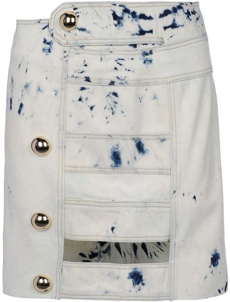 Love this: ANTHONY VACCARELLO Blue Denim Skirt @Lyst