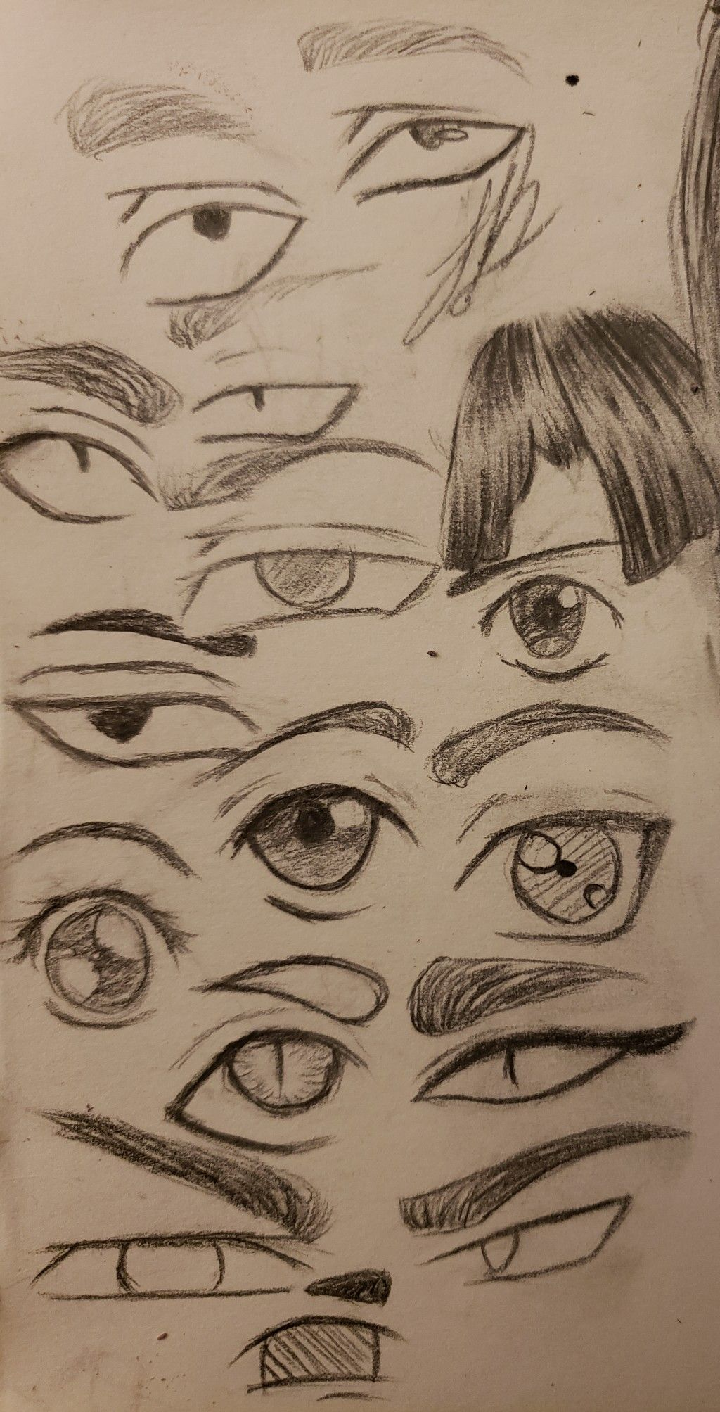 A Very Messy Quick Eye Exercise Because I Was Bored Hope It Helps How To Draw Anime Eyes Anime Eyes Eye Drawing