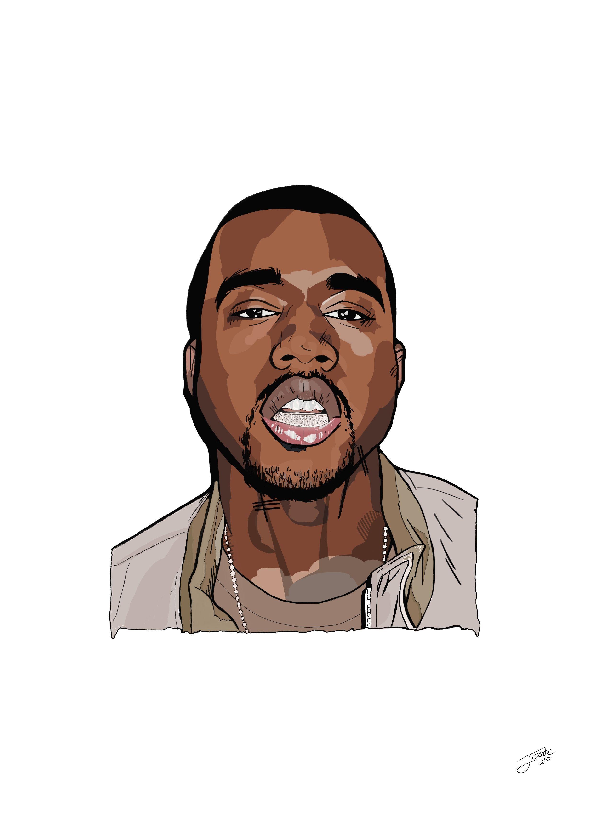 Kanye West Portrait In 2020 Ipad Pro Art Digital Art Illustration Digital Art