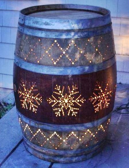 wine barrel porch light projects pinterest barrels