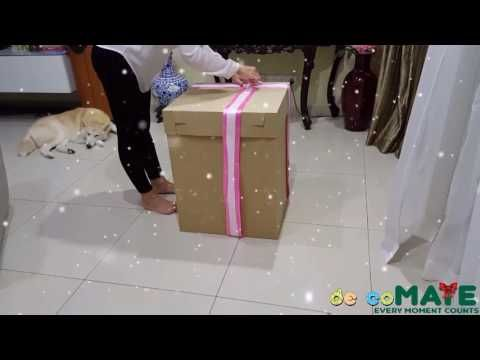 Chocolate Explosion Box Tutorial Crafts N Creations كيف تصنع صندوق المفاجآت الملئ بالشيكولاته You Balloon Surprise Birthday Balloon Surprise Balloon Box