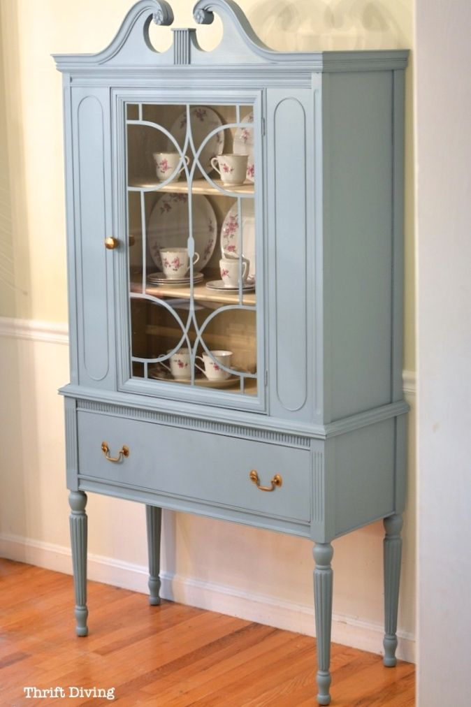 Before After My China Cabinet Makeover Using Beyond Paint Vintage Furniture Makeover Antique China Cabinets Furniture Makeover