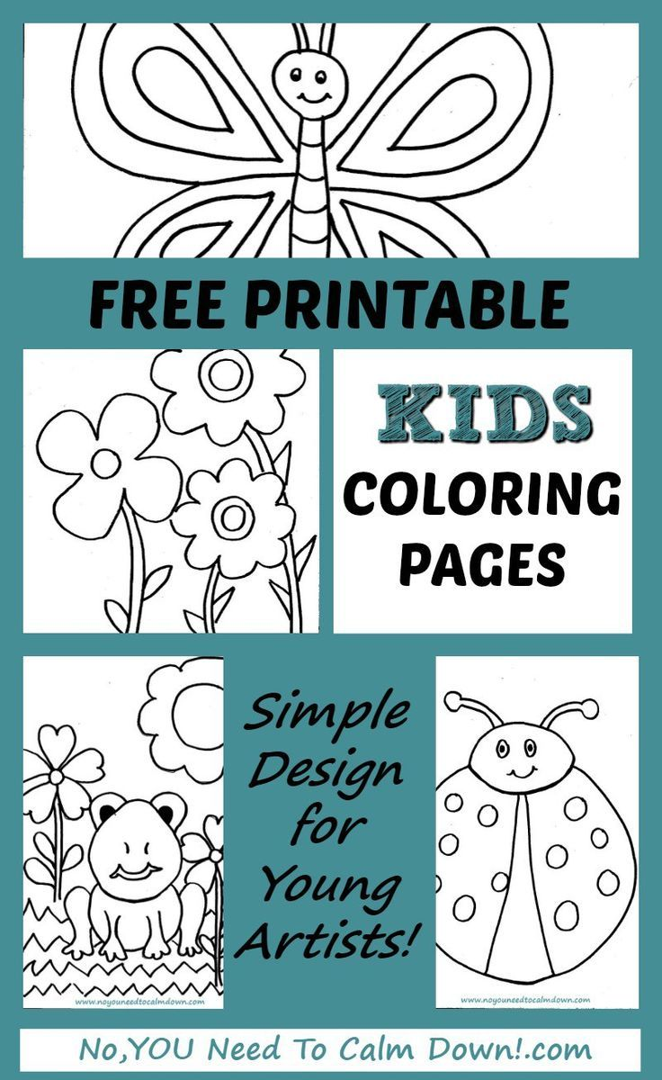 Coloring Pages for Kids - Free Printables | Kid Crafts | Pinterest ...