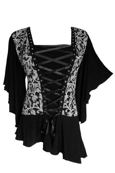 I found 'Dare To Wear Victorian Gothic Women's Plus Size Alchemy Corset Top' on Wish, check it out!