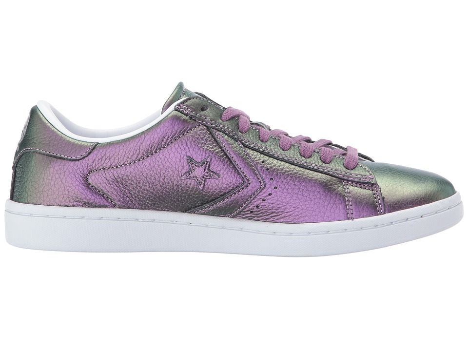 506bc0fb942 Converse Pro Leather LP Iridescent Leather Ox Women s Classic Shoes Viola  Fantasy White White