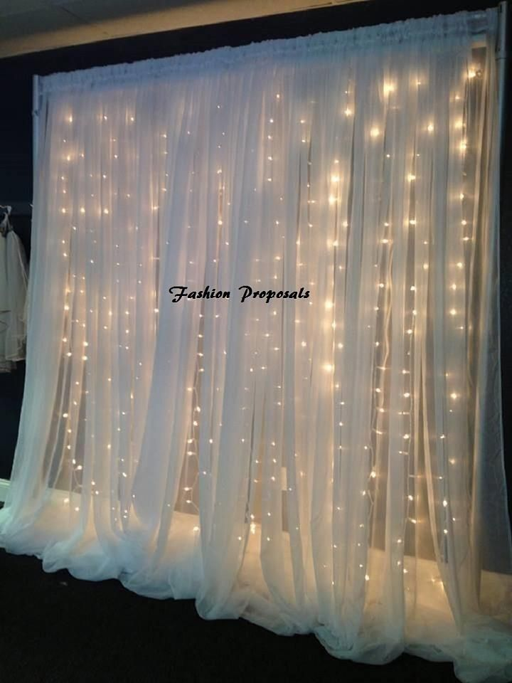 White Led Backdrop Lights Led Backdrops Drapes With Voile